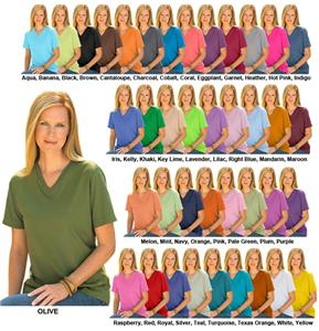 LAT Sportswear Ladies Jersey V-Neck T-Shirt