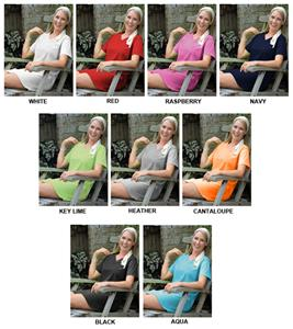 LAT Sportswear Ladies Jersey V-Neck Coverup