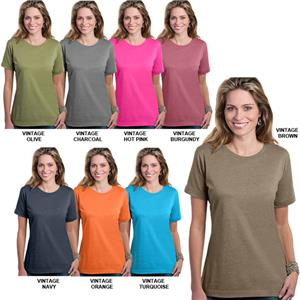 LAT Sportswear Ladies Vintage Long Length T-Shirt