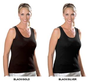 LAT Sportswear Ladies Rib Tank w/Metallic Stitch