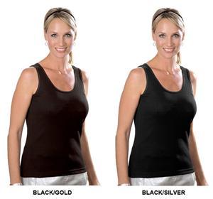 LAT Sportswear Ladies Rib Tank w/Metallic Stitch