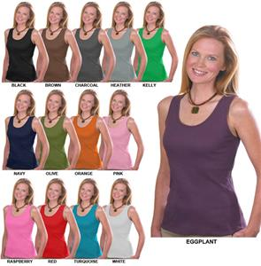 LAT Sportswear Ladies 2x1 Rib Tank