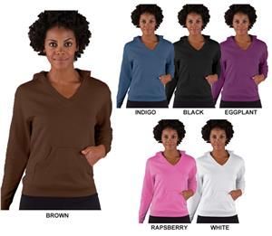 LAT Sportswear Ladies French Terry V-Neck Hoodies