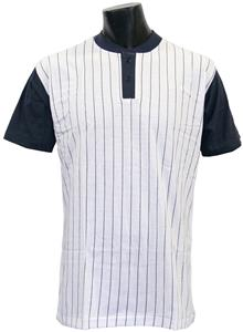 Champro 2 Button Pinstriped Baseball Jersey C/O