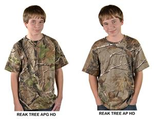 LAT Sportswear Youth Realtree Camo T-Shirt