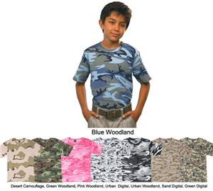 LAT Sportswear Youth Camo T-Shirt