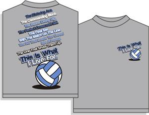 Utopia Volleyball I Live For VB T-shirts