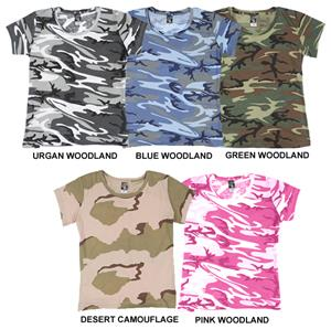 LAT Sportswear Ladies Camo T-Shirt