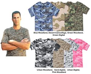 LAT Sportswear Adult Camo T-Shirt