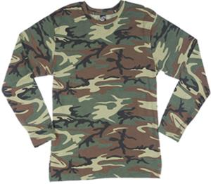 LAT Sportswear Adult Camo Long Sleeve T-Shirt