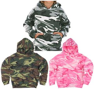 LAT Sportswear Youth Camo Pullover Hoodie