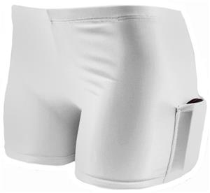 Plangea Spandex 4&quot; Sport Short w/Cellphone Pocket
