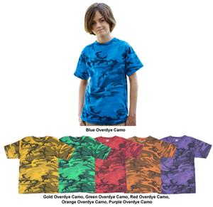 LAT Sportswear Youth Camo Overdye T-Shirt