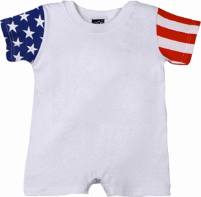 LAT Sportswear Infant Stars and Stripes Romper