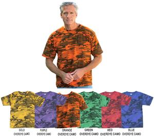 LAT Sportswear Adult Camo Overdye T-Shirt