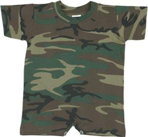 LAT Sportswear Infant Camo T-Romper