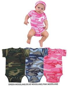 LAT Sportswear Infant Camo Creeper