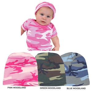 LAT Sportswear Infant Baby Rib Camo Cap