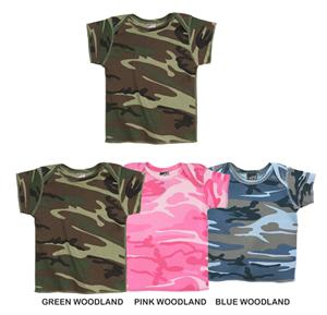LAT Sportswear Infant Camo Lap Shoulder T-Shirt