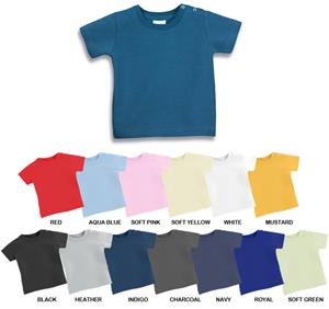 LAT Sportswear Infant Softy Snap Shoulder T-Shirt