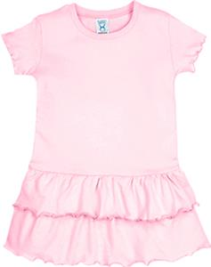 LAT Sportswear Toddler Jersey Ruffle Dress