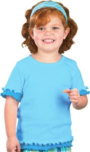 LAT Sportswear Toddler Double Ruffle Tee