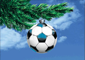 Zonker Soccer Ball Ornament Greeting Cards