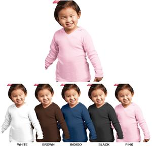 LAT Sportswear Toddler Hooded Thermal T-Shirts