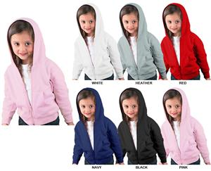 LAT Sportswear Toddler Zip Front Sweatshirt Hoodie