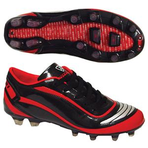 Vizari Men's Finale FG Black/Red Soccer Cleats