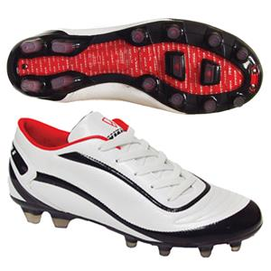 Vizari Men's Finale FG White/Black Soccer Cleats
