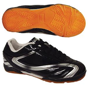 Vizari &quot;Treviso IN JR&quot; Black/Silver Soccer Cleats