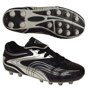Vizari Youth Striker FG Black/Silver Soccer Cleats