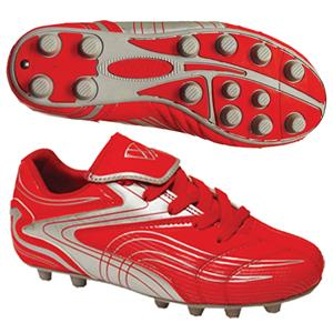 "Vizari ""Striker FG"" Youth Red/Silver Soccer Cleats"