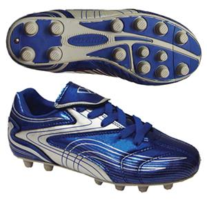 "Vizari ""Striker FG"" Youth Blue/Silver Soccer Cleat"