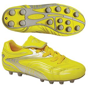"Vizari ""Striker FG"" Youth Yellow/Silver Cleats"