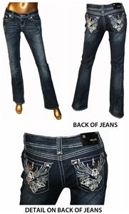 Grace in L.A. Bling Pocket Bootcut Fit Jeans