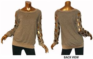 T Party Cutout Sleeve Fashion Sweatshirts