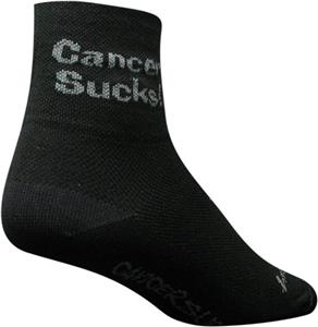 Sockguy Classic Black Cancer Sucks Socks