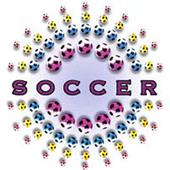 Multi-Colored Soccer Ball tshirts