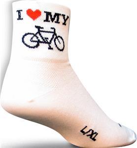 Sockguy Classic Heart My Bike Socks