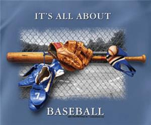 All About Baseball Slate Blue tshirts gifts