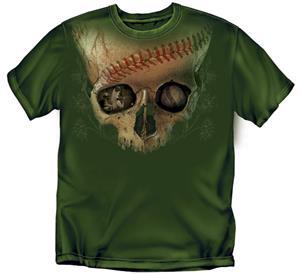 Skull Baseball tshirts