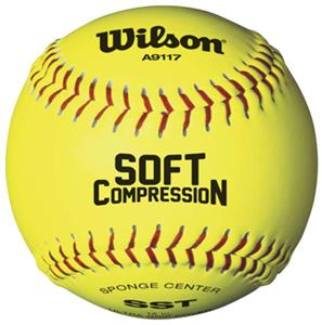 Wilson Soft Compression Fastpitch Softballs (3 DZ)