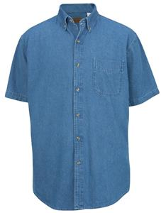 Edwards Mens Mid-Weight Denim Short Sleeve Shirt