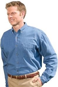 Edwards Mens Heavy Weight Denim Long Sleeve Shirt
