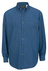Edwards Mens Mid-Weight Denim Long Sleeve Shirt