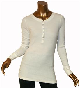 T Party Ivory Button Down Long Sleeve Top