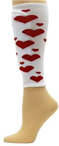 Red Lion Red Hearts Shin Guard Sleeves