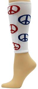 Red Lion Peace Sign Shin Guard Sleeves